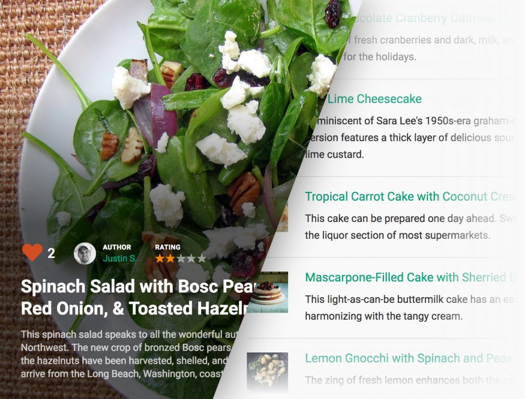 The Cooked Pro recipe plugin includes additional layout design options.