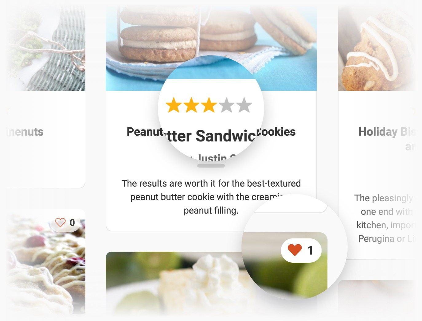 The Cooked Pro recipe plugin includes user ratings and favorites.